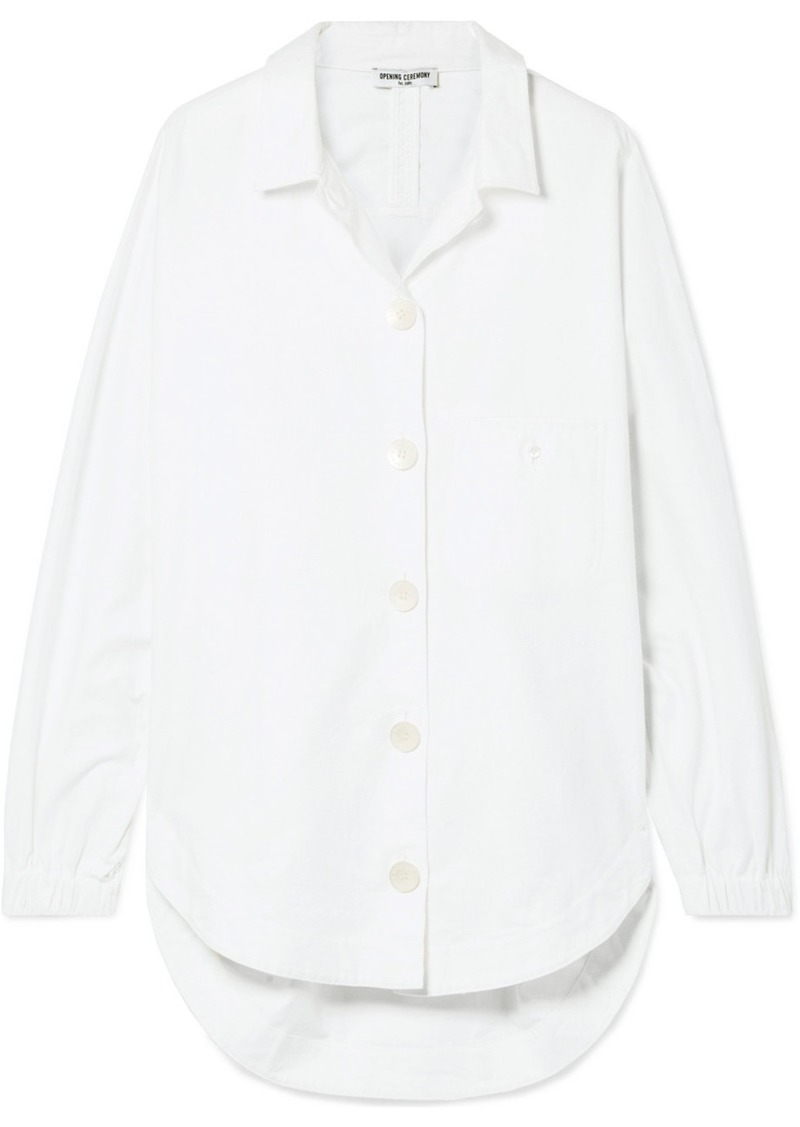 Opening Ceremony Oversized Brushed Cotton-poplin Shirt