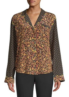 Opening Ceremony Paisley Print Silk Blouse