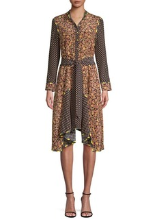 Opening Ceremony Paisley Print Silk Shirtdress