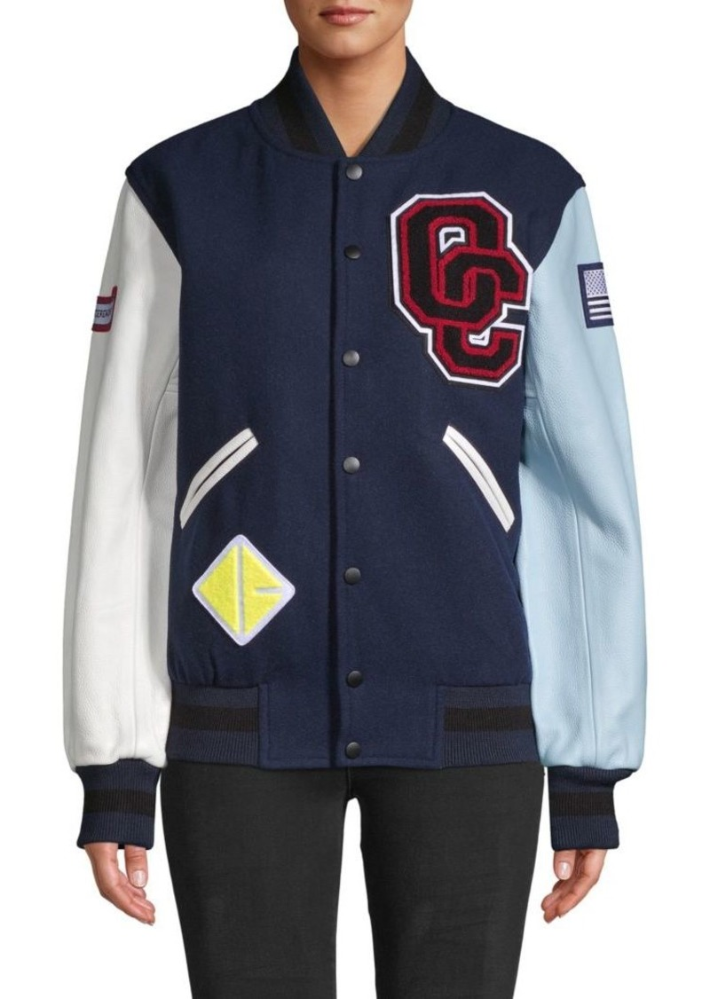 Opening Ceremony Patch Wool-Blend Bomber Jacket