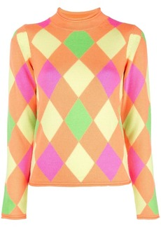 Opening Ceremony patterned mock neck pullover