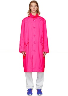 Opening Ceremony Pink Nylon Logo Trench Coat