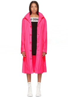 Opening Ceremony Pink Nylon Logo Trenchcoat