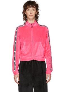 Opening Ceremony Pink Velour Track Zip-Up Jacket