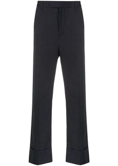 Opening Ceremony pinstriped cuffed tailored trousers