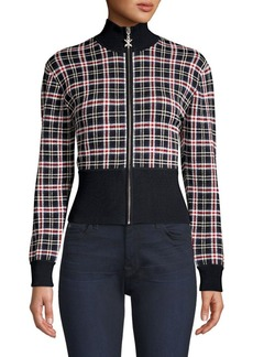 Opening Ceremony Plaid Knit Track Jacket