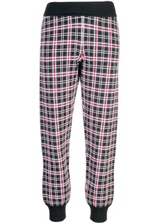 Opening Ceremony plaid knit track pants