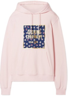 Opening Ceremony Printed Cotton-jersey Hoodie