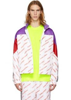 Opening Ceremony Purple & White Nylon Logo Warm-Up Jacket