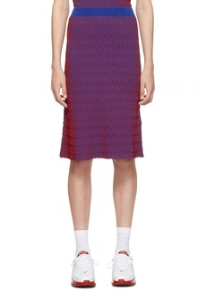 Opening Ceremony Red & Blue Squiggle Skirt