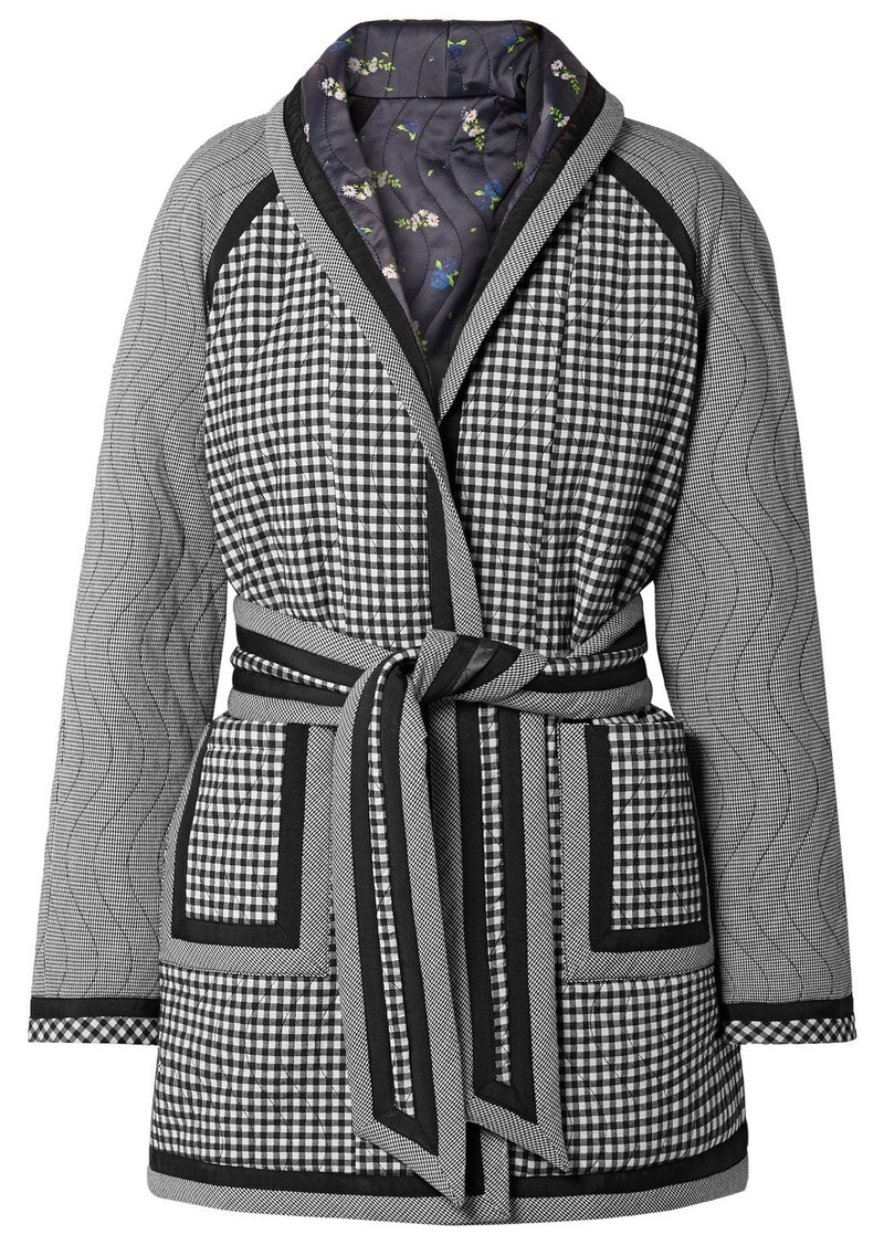Opening Ceremony Reversible Belted Printed Woven And Satin Coat