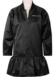 Opening Ceremony Reversible Embroidered Taffeta Peplum Jacket