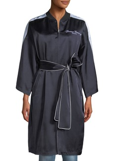 Opening Ceremony Reversible Embroidered Zip-Front Kimono Jacket