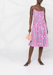 Opening Ceremony rose-print spaghetti-strap dress