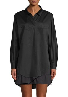 Opening Ceremony Seamed Button-Front Blouse