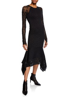 Opening Ceremony Sequin Floral Jacquard Jersey Cocktail Dress