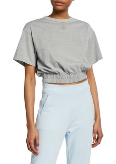 Opening Ceremony Short-Sleeve Cropped Elastic-Hem Tee