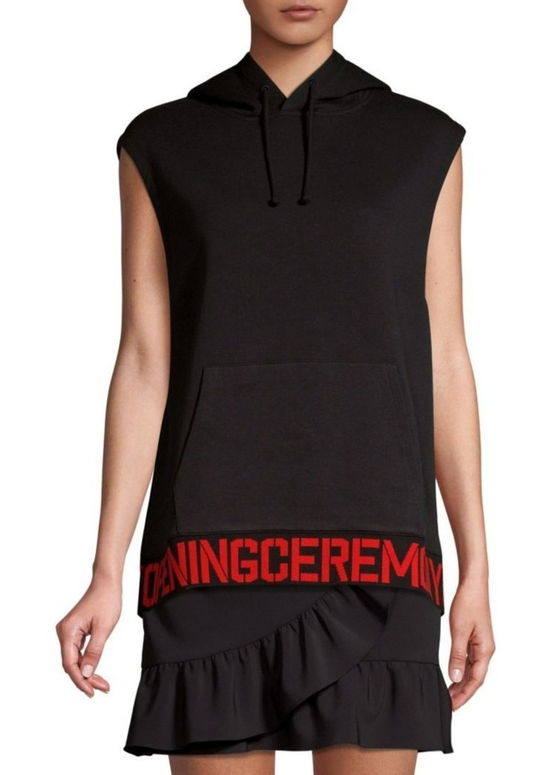 Opening Ceremony Sleeveless Cotton Logo Hoodie Vest