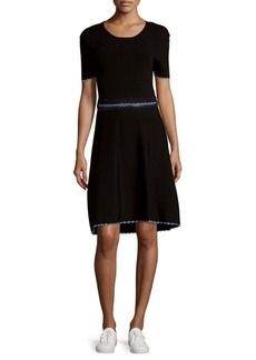 Opening Ceremony Solid Embroidered Cutout Dress