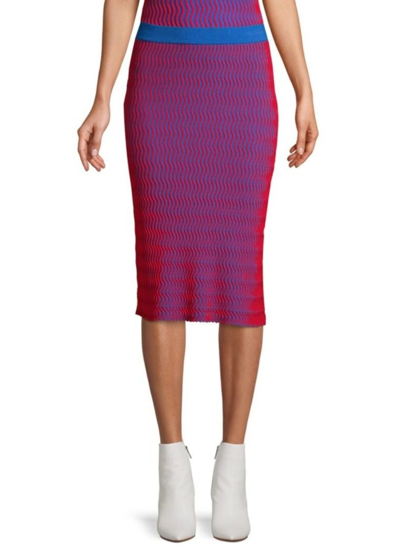 Opening Ceremony Squiggle Knit Skirt