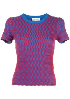 Opening Ceremony squiggle short sleeve sweater