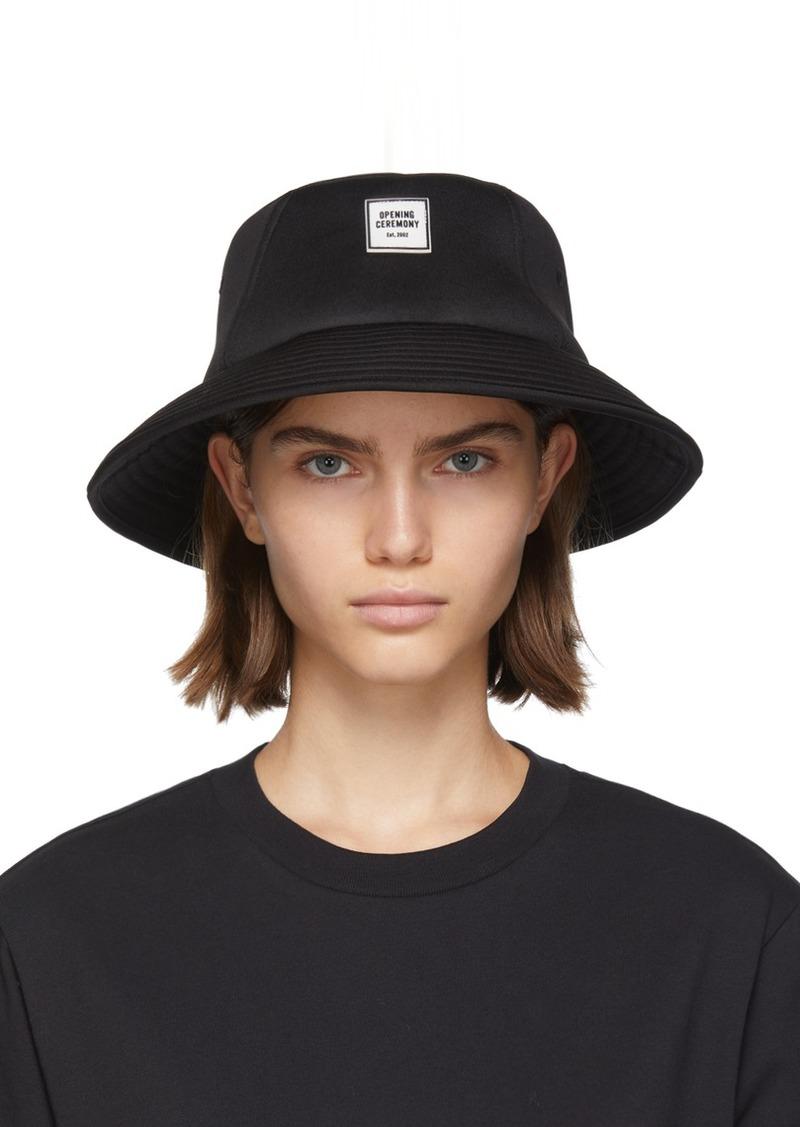 Opening Ceremony SSENSE Exclusive Black Neoprene Bucket Hat
