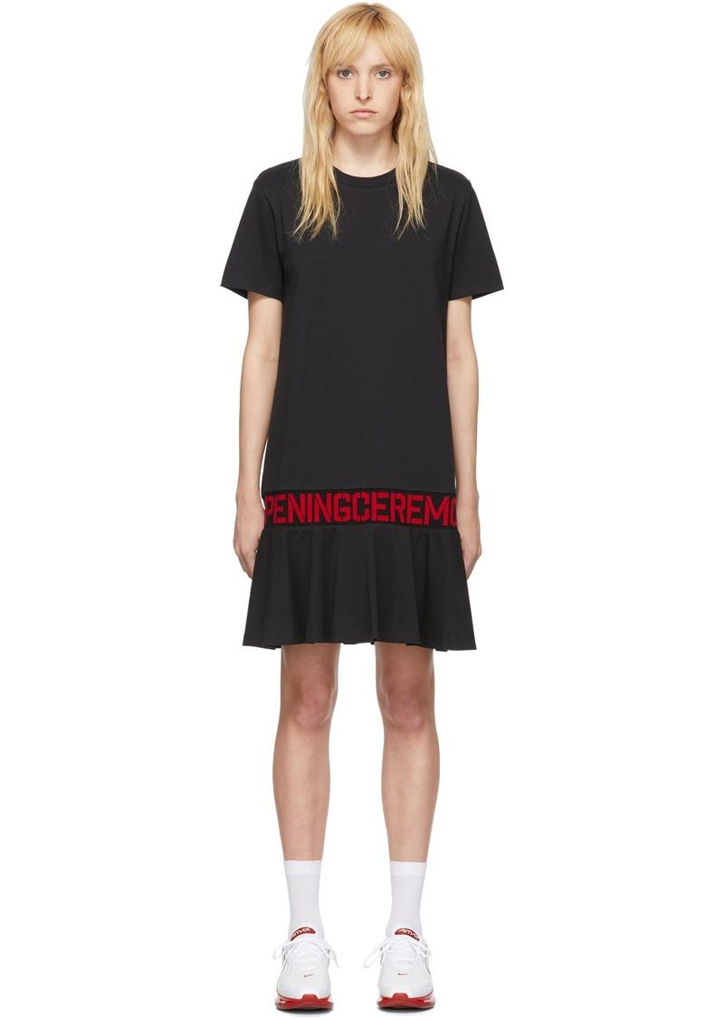 Opening Ceremony SSENSE Exclusive Black OC Logo T-Shirt Dress