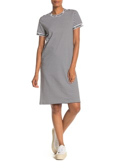 Opening Ceremony Stripe Logo Trim T-Shirt Dress