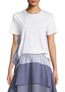 Opening Ceremony Striped Combo Ruffle Tee