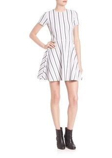 Opening Ceremony Striped Fit-&-Flare Dress