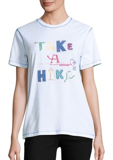 Opening Ceremony Take A Hike Cotton Embroidered Tee