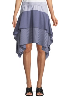 Opening Ceremony Tiered Asymmetric Striped Skirt