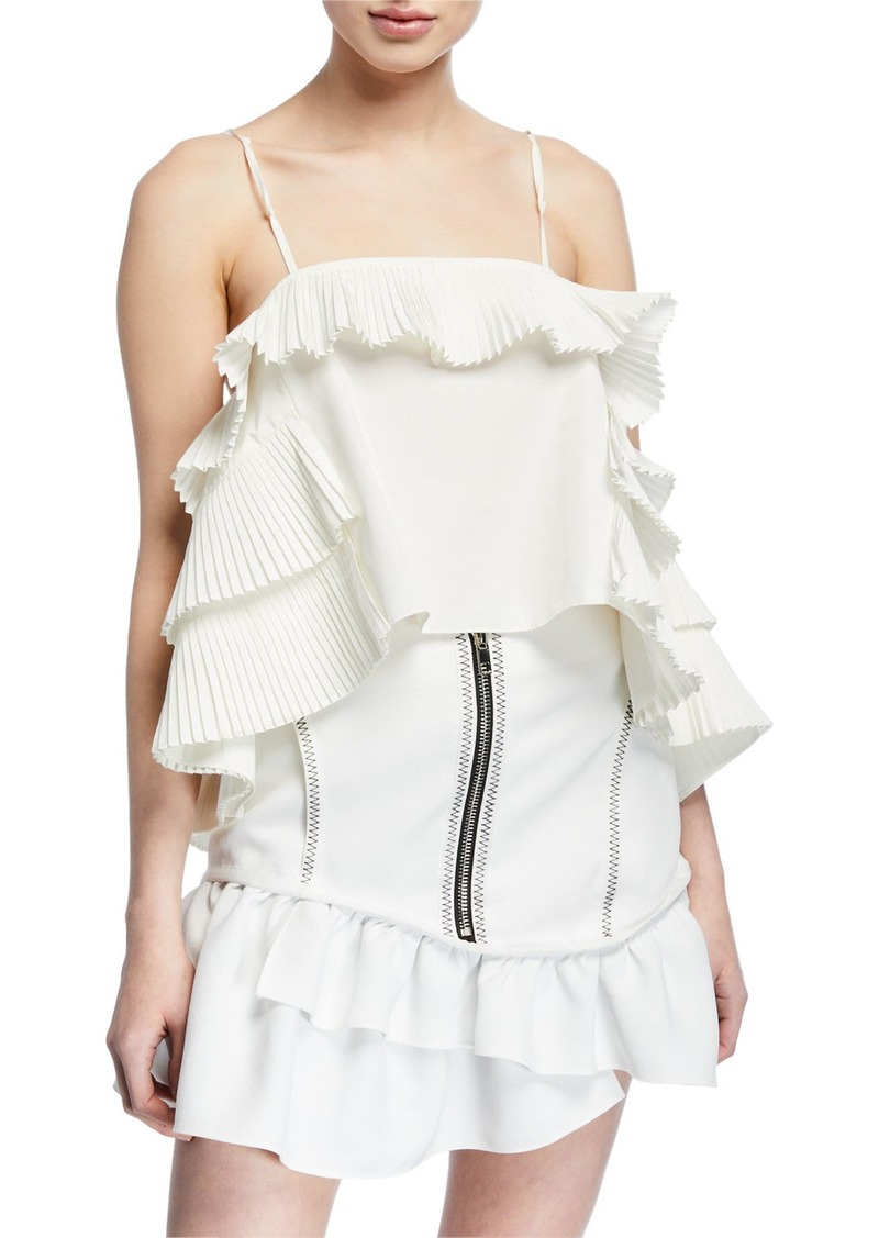 Opening Ceremony Tiered-Ruffle Square-Neck Camisole