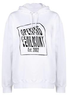 Opening Ceremony warped logo cotton hoodie