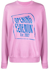 Opening Ceremony warped logo-print cotton sweatshirt