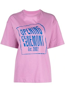 Opening Ceremony warped logo-print cotton T-shirt