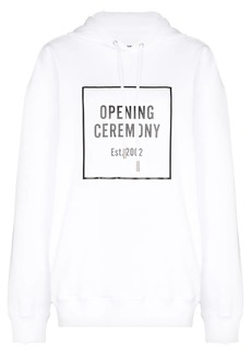 Opening Ceremony Box Logo print hoodie