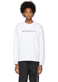 Opening Ceremony White Cozy Logo Sweatshirt