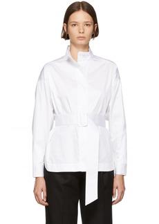 Opening Ceremony White Poplin Belted Shirt