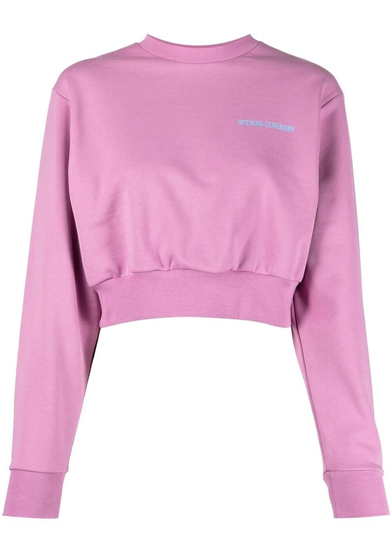 Opening Ceremony word torch cropped sweatshirt