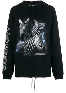 Opening Ceremony zebra logo print hoodie