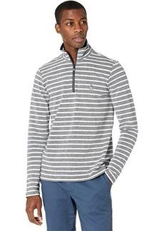 Original Penguin 1/4 Zip Striped Fleece Sweater
