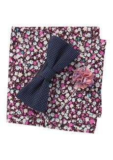 Original Penguin Bardallo Dot Bow Tie, Pocket Square, & Lapel Pin Set