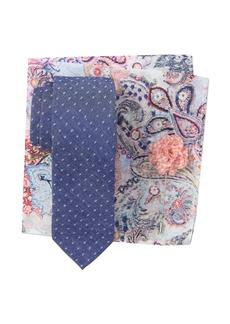 Original Penguin Begonia Dot Tie, Pocket Square, & Lapel Pin Set
