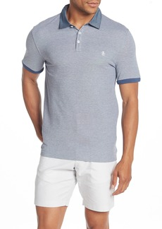 Original Penguin Birdseye Chambray Collar Short Sleeve Polo