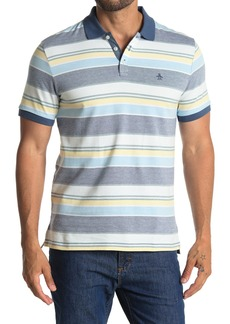 Original Penguin Birdseye Stripe Print Knit Polo