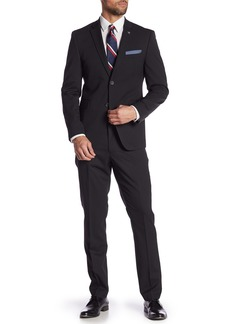 Original Penguin Black Woven Two Button Notch Lapel Suit
