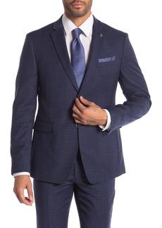 Original Penguin Blue Check Two Button Notch Lapel Suit Separates Jacket