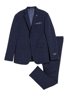 Original Penguin Blue Plaid Two Button Notch Lapel Suit