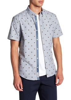 Original Penguin Burger Print Short Sleeve Slim Fit Shirt